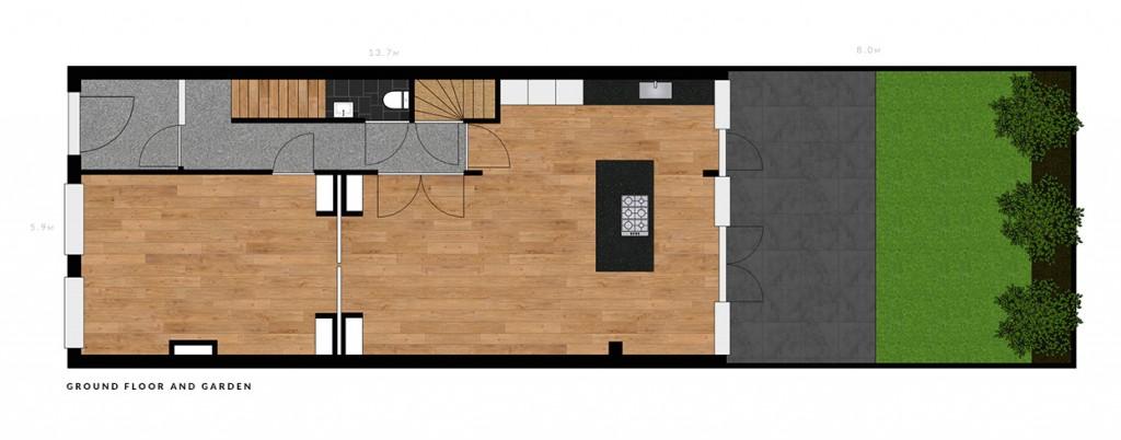 Nassau Dillenburgstraat ground floor